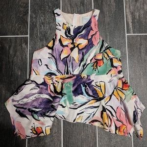 Anthropologie Floral Top Size 2 Petite